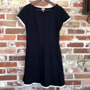 J. Crew Navy & White A-Line Dress